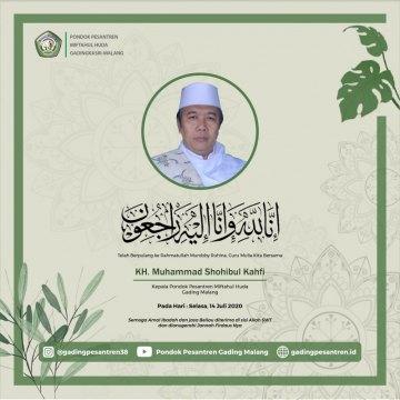 Kabar Duka, KH. M. Shohibul Kahfi Tutup Usia